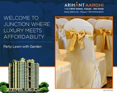 Arihant Aarohi  Kalyan Shill Road - 1 2 & 3 BHK Flats - 3 Towers, Stilt+18 Storeyed, Residential Cum Commercial Project  Party Lawn with Garden  #Maharera Number for Phase I - P51700004679  http://www.asl.net.in/arihant-aarohi.html  #ArihantAarohi #RealEstate #Homes #Property #Residential #Commercial #KalyanShillRoad