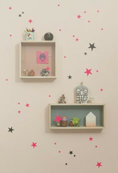 Shop for ferm LIVING Mini Stars Wall Sticker from Modern Karibou. Choose other household items from the largest online collection of ferm LIVING products in Canada. Deco Kids, Star Wall, Star Stickers, Little Girl Rooms, Kids Decor, Girls Bedroom, Bedrooms, Room Inspiration, Room Decor