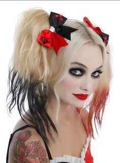 DC-Comics-Batman-Harley-Quinn-Cosplay-Ribbon-Hair-Bow-Costume-Comicon-NWT