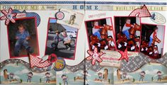 layout using Kiwi Lane Designer Templates Scrapbooking Layouts, Scrapbook Pages, Kiwi Lane Designs, October Afternoon, Cowboy Girl, Page Layout, Give It To Me, Cards, Fun