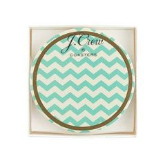 Great gift for the Hostess: J.Crew chevron coasters.