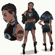 by muna abdirahman Female Character Design, Character Drawing, Character Illustration, Character Concept, Animation Character, Character Sketches, Digital Illustration, Black Anime Characters, Female Characters