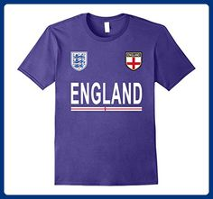 Mens England Pride T-Shirt - English Football Jersey 2017 Small Purple - Sports shirts (*Amazon Partner-Link)