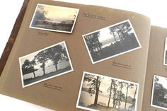 Antique Photo Album / Black and White Photography by tentvintage