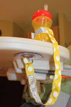 Mommy Must Have! Suction Sippy Strap by ChunksBabyJunk, $12.00 #chevron  Why did I never think of this? lol