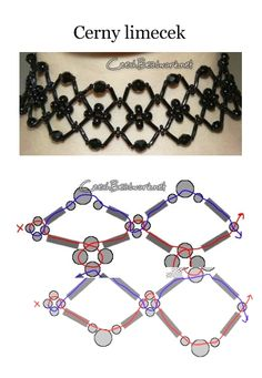 Seed bead pattern**Great choker necklace for a young girl or anyone else that likes chokers, also would make a great attachment to fabric covered belt or other accessories**