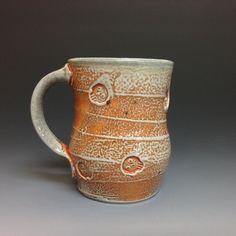 Ron Philbeck Skull Coffee Mug. Soda Fired Stoneware by RonPhilbeckPottery