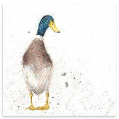 ACHICA | Hannah Dale - Guard Duck, Mounted Art Print, 42 x 42 cm