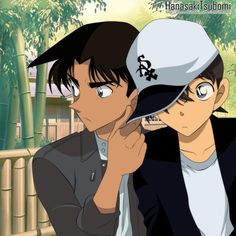 detective conan shinichi and heiji - Google Search