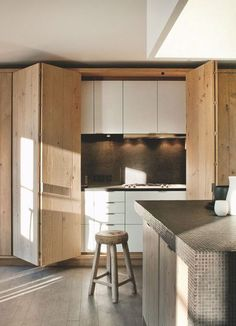 Apartment Kitchen Decor Moliere Residence by Olivier Chabaud Architecte. Apartment Kitchen Decor Moliere Residence by Olivier Chabaud Architecte Kitchen Interior, Home, Hidden Kitchen, Home Remodeling, Tiny Living, House Interior, Kitchen Dining Room, Home Kitchens, Kitchen Design