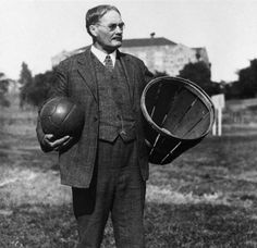 Accomplishments in sport: James won a Silver medal for best all-around athlete, McGill University.He was a Canadian born physical educator made his mark on sports history when he invented the game of basketball in Springfield, Massachusetts, in December 1891, with a soccer ball, two peach baskets, a ladder and ten written rules.Within two weeks he had come up with the sport.