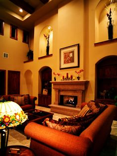 Family Room Large Niches Above Niches Design, Pictures, Remodel, Decor and Ideas - page 13