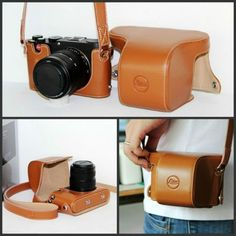 Brown Camera Case Bag Genuine Leather Case Cover for Digital Camera Leica X Vario - Mini M