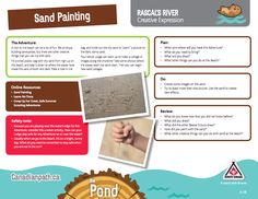Beaver Scouts, Sand Painting, Beavers, Scouting, Beach Fun, Boy Scouts, Cubs, Trail, Creativity
