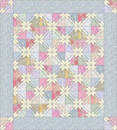PDF Modern Victorian Hunter Star Quilt Pattern by SewOnTheGo