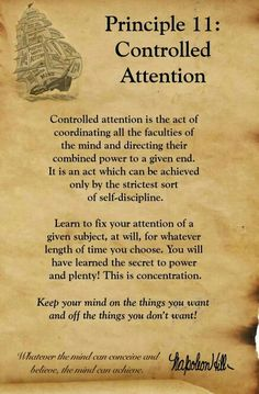 Controlled attention :: concentration