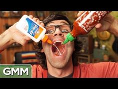 "The Sriracha Challenge - YouTube - ""Good Mythical Morning""   Starts slowly, but once they actually start the taste testing it gets funny."