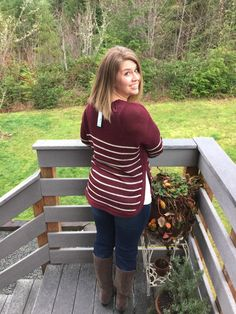 XO Kerry | December Stitch Fix Review RD Style Beya Side Slit Pullover Sweater & Liverpool Kay Skinny Jean
