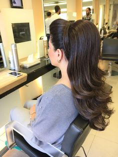 40 Simply Stunning Hairstyle Inspirations For All Kinds Of Special Occasion – Page 4 – Style O Check Hairstyle Look, Ponytail Hairstyles, Bride Hairstyles, Pretty Hairstyles, Flip Hairstyle, Everyday Hairstyles, Weave Hairstyles, Updos, Wedding Hair And Makeup