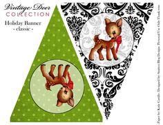 FREE printable Banner, deer, printable.