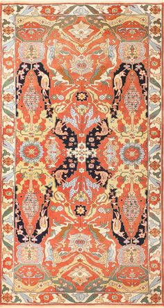 Turkish dragon rug, by Tuduk, 1.35 m x 2.51 m, 1910, Nazmiyal gallery