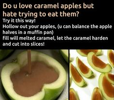 Treat yourself and those you care about to something special with a delicious gourmet apple! Baking Recipes, Snack Recipes, Dessert Recipes, Fall Recipes, Think Food, Love Food, Diy Food, Food Hacks, Snack Hacks