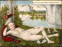 Nymph of the Spring, Lucas Cranach the Younger (German, Wittenberg 1515–1586 Wittenberg)