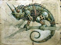 Vladimir Gvozdariki - Steam Punk Illustration, Chameleon