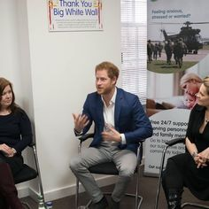 This morning Prince Harry visited the digital mental health service Big White Wall at their London office. His Royal Highness heard how the organisation's online community supports serving or ex-service personnel and their families dealing with issues related to their mental health. Big White Wall is part of the CONTACT coalition, the military charity partner of Their Royal Highnesses' @heads_together campaign. PA
