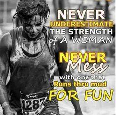 No mud, no glory! #FilthyGirlMudRun #Obstacle #MUD