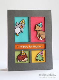 Happy Birthday Card - Lawn Fawn