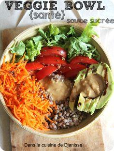 Veggie bowl sauce sucrée {cuisine végétalienne}