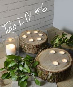 TUTO #DIY6 BOUGEOIR GALETTE-Chêne Décors. Besoin d'un peu de nature ? Au sol ou sur une table, à l'intérieur comme à l'extérieur.