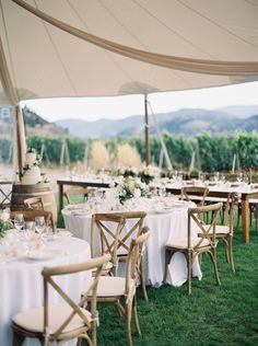 white and green wedding inspiration. Wedding reception tables