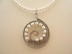 Nautilus Pendant Necklace. $68.00, via Etsy.