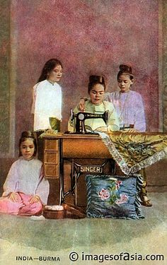 Singer sewing machine, Burma, 1905