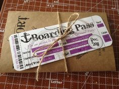 Boarding Pass Invitation ( Digital/ DIY/Printable). $10.00, via Etsy.