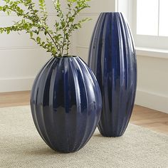 Renny Blue Vases | Crate and Barrel