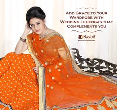Add Grace to your Wardrobe with Beautiful Orange Lehanga that Complements you. Visit: www.Rachitfashion.com ‪#‎Orange‬ ‪#‎Beautiful‬ ‪#‎Lehanga‬ ‪#‎Purchase‬ ‪#‎Awesome‬ ‪#‎Collection‬ ‪#‎OnlineShopping‬ ‪#‎RachitFashion‬