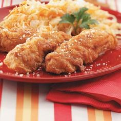 Southern Fried Chicken Strips Recipe -What's not to love with these crowd-pleasing golden fried chicken strips? A hint of garlic makes them irresistible. Genise Krause, Sturgeon Bay, WI