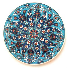 Ceramic Trivet Iznik design You are in the right place about gifts funny Here we offer you the most Turkish Art, Turkish Tiles, Portuguese Tiles, Moroccan Tiles, Ceramic Plates, Ceramic Pottery, Painted Plates, Slab Pottery, Decorative Plates