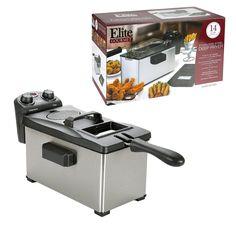 Elite Gourmet 3.5 Quart Stainless Steel Deep Fryer #EDF-3500