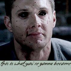 Supernatural Quote / Dean this scared me so bad Supernatural Quotes Dean, Winchester Supernatural, Winchester Boys, Supernatural Seasons, Glass Case Of Emotion, Demon Dean, Super Natural, Superwholock, Fangirl