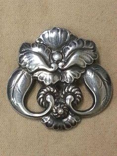 Vintage Georg Jensen Denmark Sterling Silver Brooch