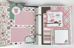 Baby Girl Scrapbook Mini Album Kit or Premade Newborn Shower Digital Scrapbook, Scrapbook Bebe, Baby Girl Scrapbook, Mini Scrapbook Albums, Scrapbook Pages, Scrapbook Supplies, Scrapbooking Layouts, Mini Albums, Cadeau Parents