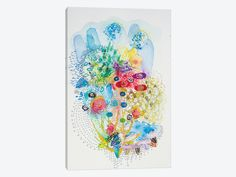 East Urban Home 'Agua Brava' Graphic Art on Wrapped Canvas Size: Canvas Artwork, Canvas Prints, Contemporary Wall Art, New Wall, Joss And Main, Metal Wall Art, Canvas Size, Painting Prints, Wrapped Canvas