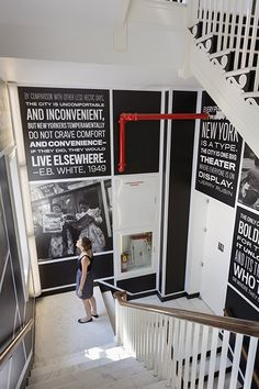 Stairwell Graphics and Signage Installation, Museum of the City of New York