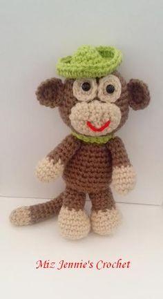 Amigurumi Monkey    ---                                 Pattern Used: little-big foot-monkey-free-amigurumi pattern