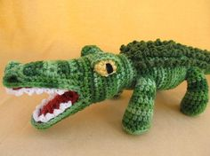 Crunch the Alligator Crochet Amigurumi Pattern by CraftyDebDesigns, $4.50