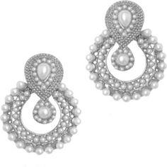 Silver Royal Chandbali earrings online shopping.